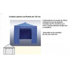 CORTINA LATERAL CON PUERTA PARA CARPA