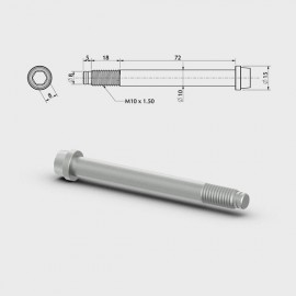 TORNILLO MANGUETA D.10 L.72+18mm