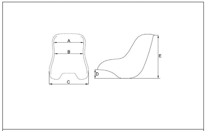 Medidas asiento kart X6 fondo plano